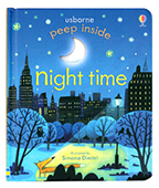 【Usborne】peep Inside:night time 窺看夜晚 翻翻書圖片