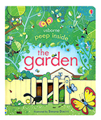【Usborne】peep inside:the garden 窺看花園 翻翻書圖片