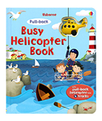 【Usborne】Pull-back busy helicopter book 迴力直升機 玩具書圖片