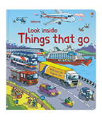 【Usborne】Look Inside Things That Go 交通百科翻翻書圖片