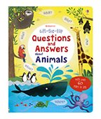 【Usborne】Questions Answers About Animals 動物問答百科翻翻書圖片