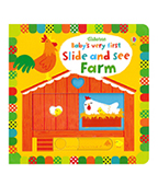 【Usborne】Babys Very First Slide and See Farm 滑滑看看農場圖片