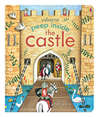 【Usborne】peep inside:the castle 窺看城堡 翻翻書圖片