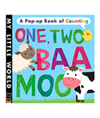 My little World:One,Two,Baa,Moo 動物數數立體書圖片