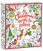 【Usborne】20 Christmas cards to colour 聖誕卡片禮盒組(20張)圖片